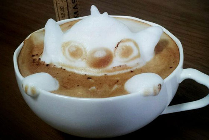 Arta 3D in cafe latte, de Kazuki Yamamoto - Poza 1