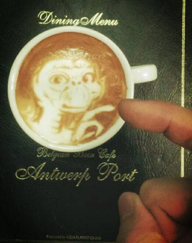 Arta 3D in cafe latte, de Kazuki Yamamoto - Poza 3