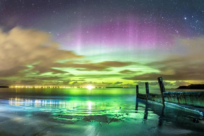 Aurora boreala in Scotia si culorile ei incredibile - Poza 1