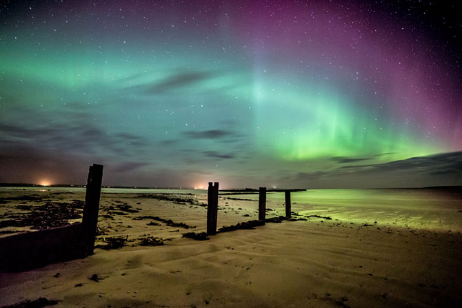 Aurora boreala in Scotia si culorile ei incredibile - Poza 3