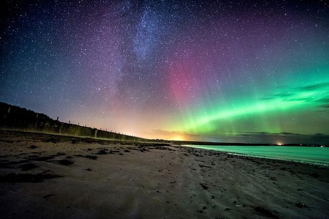 Aurora boreala in Scotia si culorile ei incredibile - Poza 7
