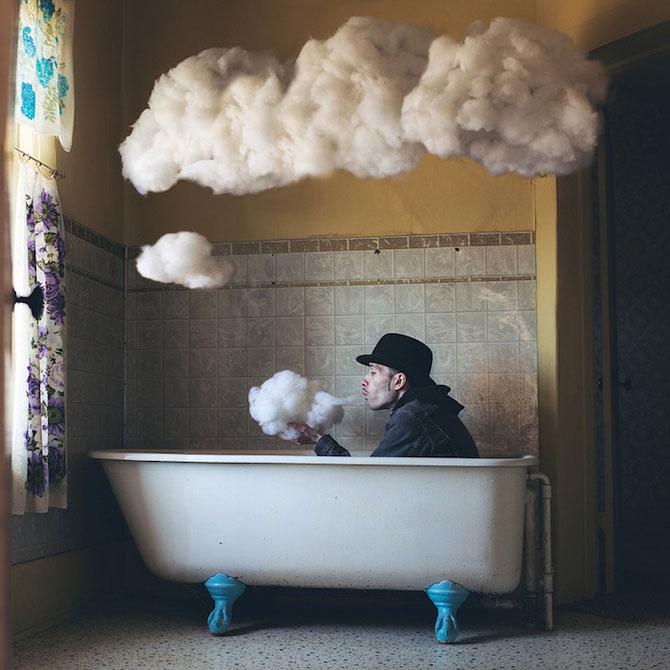 Autoportrete suprarealiste a la Magritte, de Logan Zillmer - Poza 3