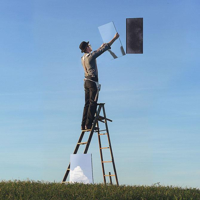Autoportrete suprarealiste a la Magritte, de Logan Zillmer - Poza 6