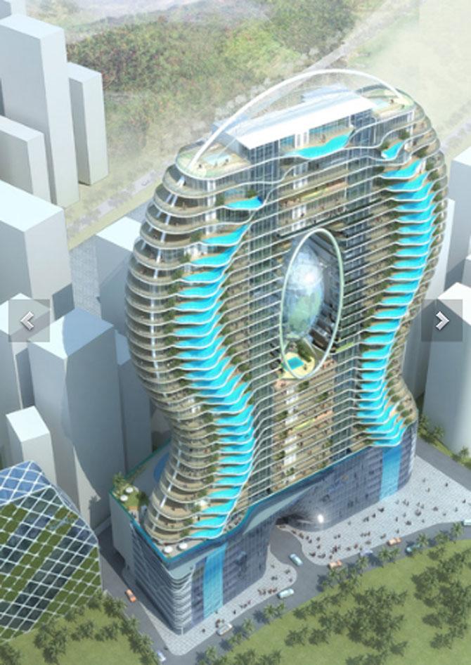 Turnul cu piscine in balcon - Poza 3