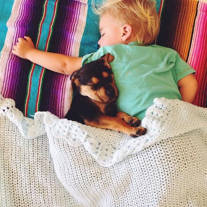 Ora de culcare, cu un baietel si cainele lui - Poza 6