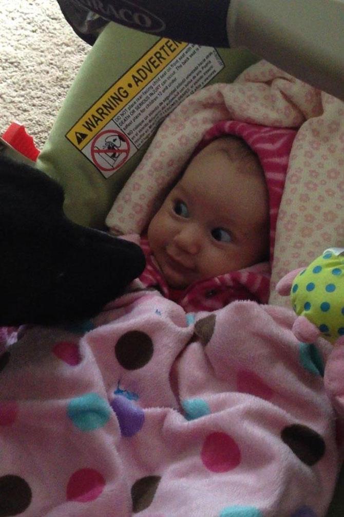 Bebelusi si catei, la prima intalnire - Poza 12