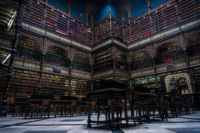 Superba Biblioteca Regala Portugheza de la Rio de Janeiro - Poza 2