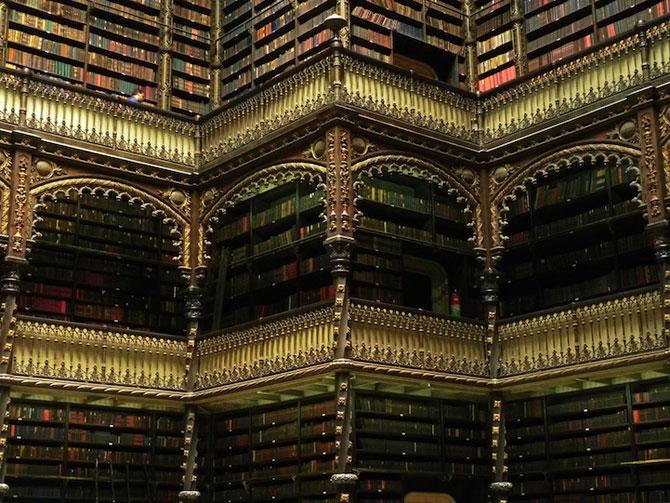Superba Biblioteca Regala Portugheza de la Rio de Janeiro - Poza 3