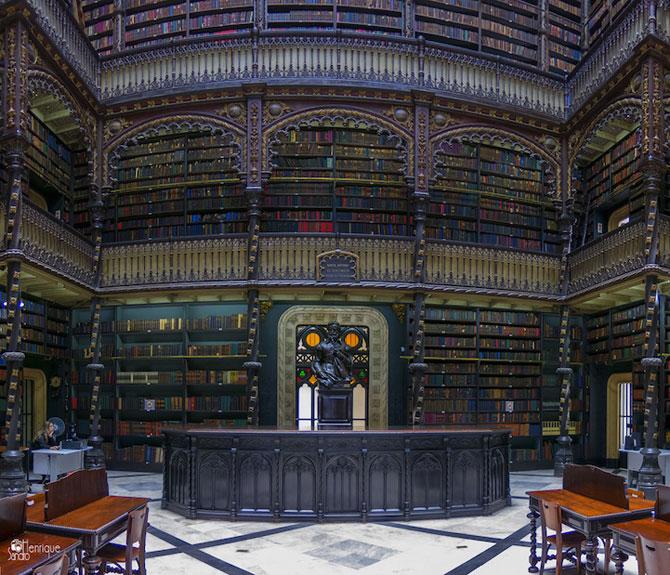 Superba Biblioteca Regala Portugheza de la Rio de Janeiro - Poza 5