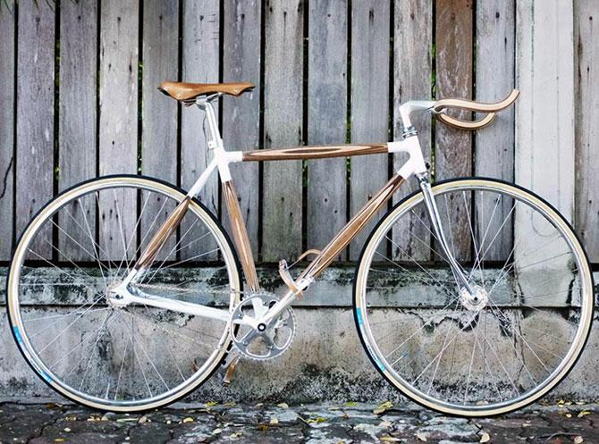 PLYbike, bicicleta cu cadru din lemn - Poza 1