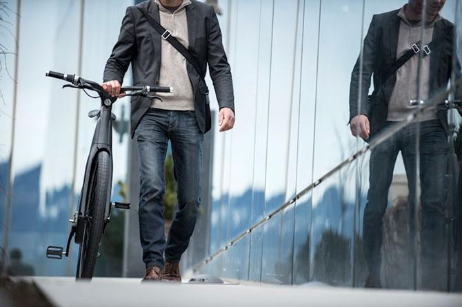 Bicicleta electrica din fibra de carbon, perfecta pentru navetisti - Poza 3