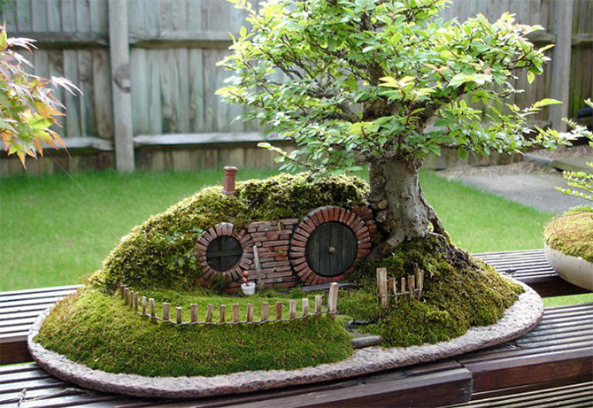 Bonsai cu hobbiti, inspirat de JRR Tolkien - Poza 1