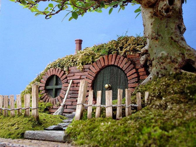 Bonsai cu hobbiti, inspirat de JRR Tolkien - Poza 2