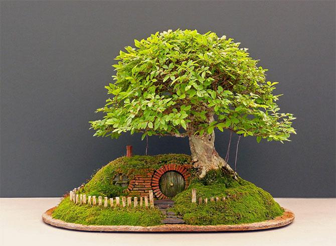 Bonsai cu hobbiti, inspirat de JRR Tolkien - Poza 3