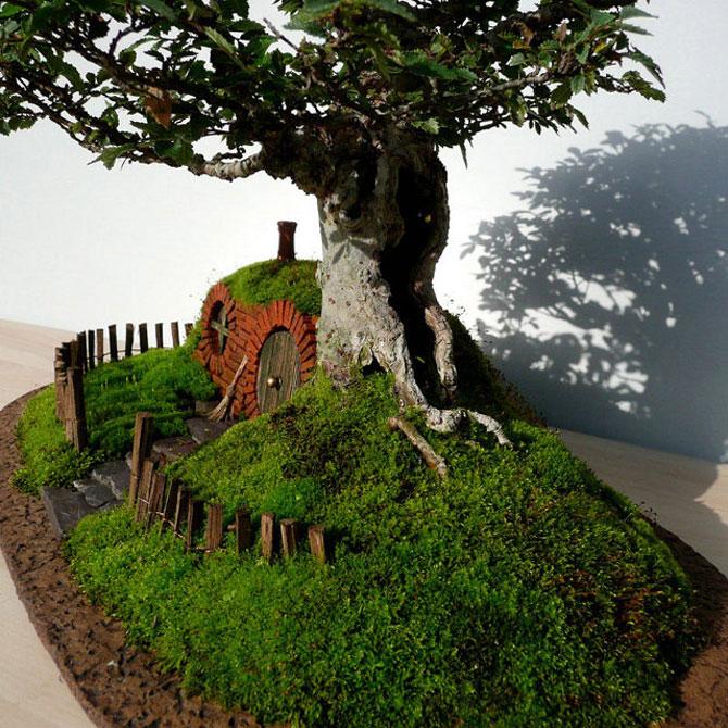 Bonsai cu hobbiti, inspirat de JRR Tolkien - Poza 4