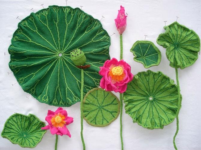 Flori tricotate incredibil de veridice la Gradina Botanica! - Poza 1