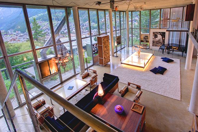 Cabana din Alpi ca un penthouse in Manhattan - Poza 1