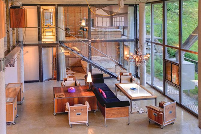Cabana din Alpi ca un penthouse in Manhattan - Poza 2