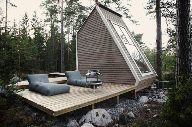Cabana de 9 mp, in inima padurii finlandeze - Poza 1
