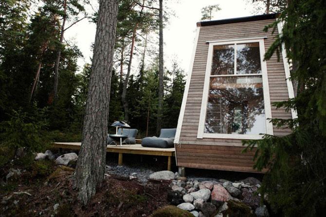 Cabana de 9 mp, in inima padurii finlandeze - Poza 2