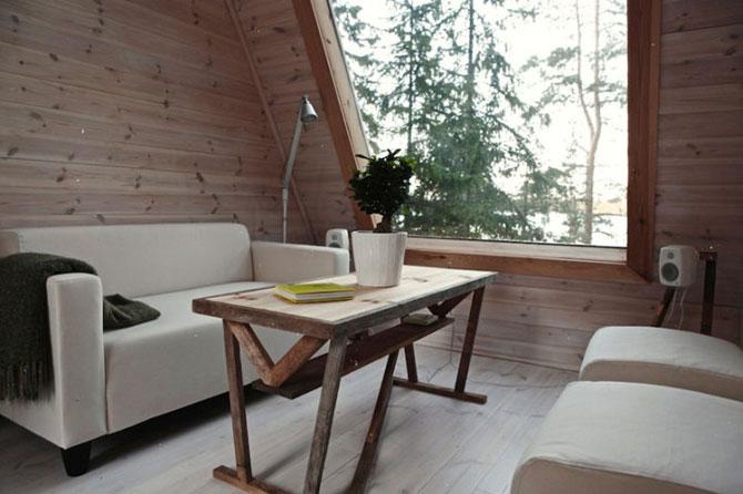 Cabana de 9 mp, in inima padurii finlandeze - Poza 3