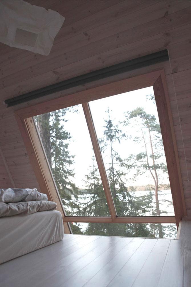 Cabana de 9 mp, in inima padurii finlandeze - Poza 4