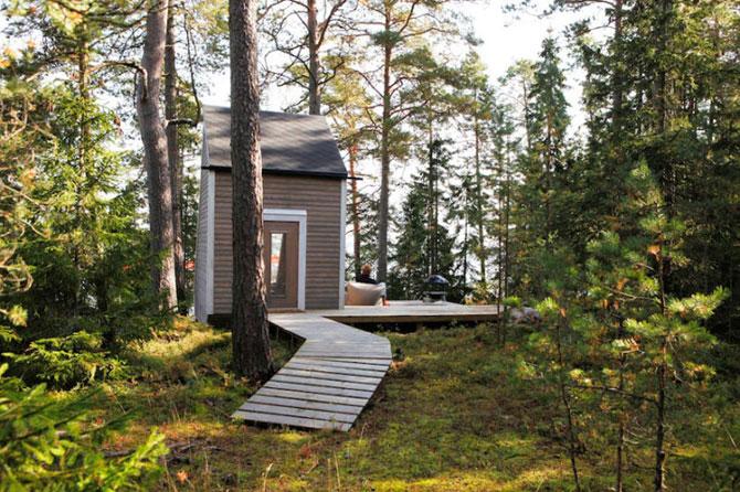Cabana de 9 mp, in inima padurii finlandeze - Poza 5