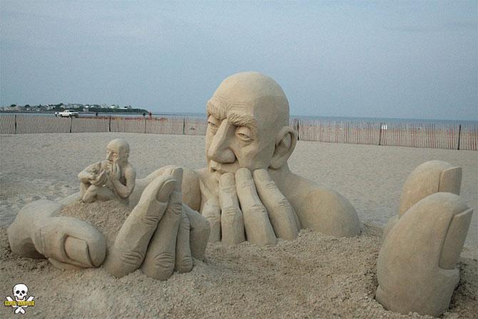 Infinity, o noua sculptura din nisip de Carl Jara - Poza 1