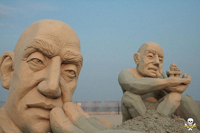 Infinity, o noua sculptura din nisip de Carl Jara - Poza 4