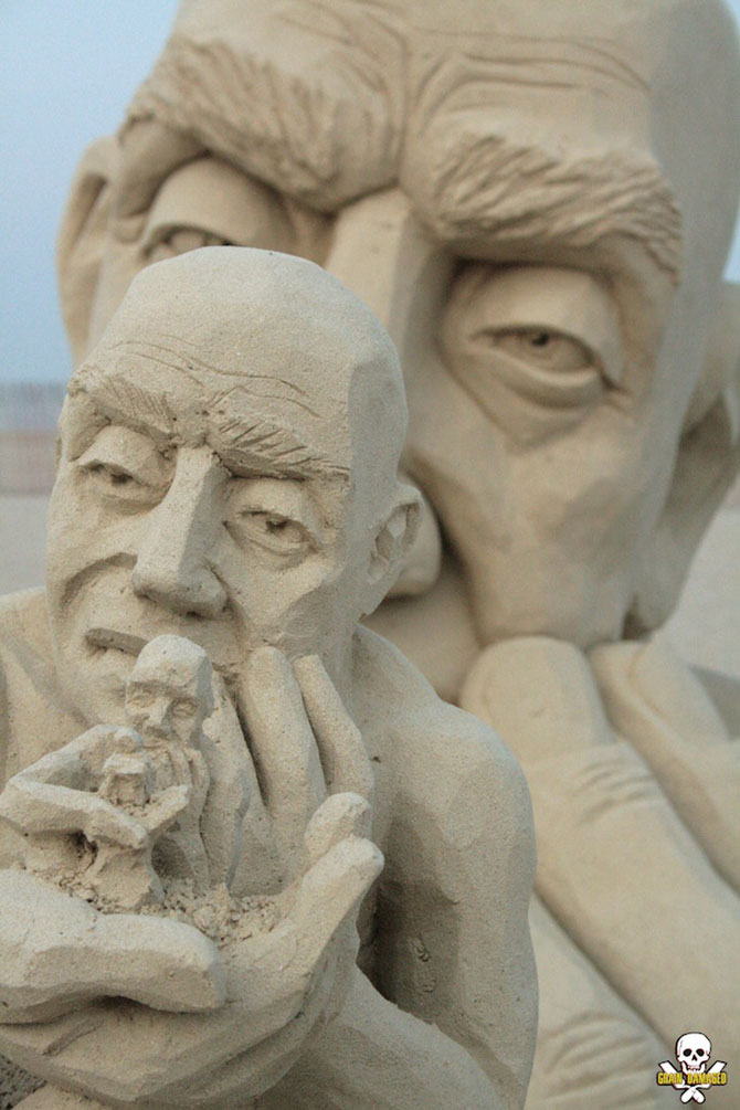 Infinity, o noua sculptura din nisip de Carl Jara - Poza 5