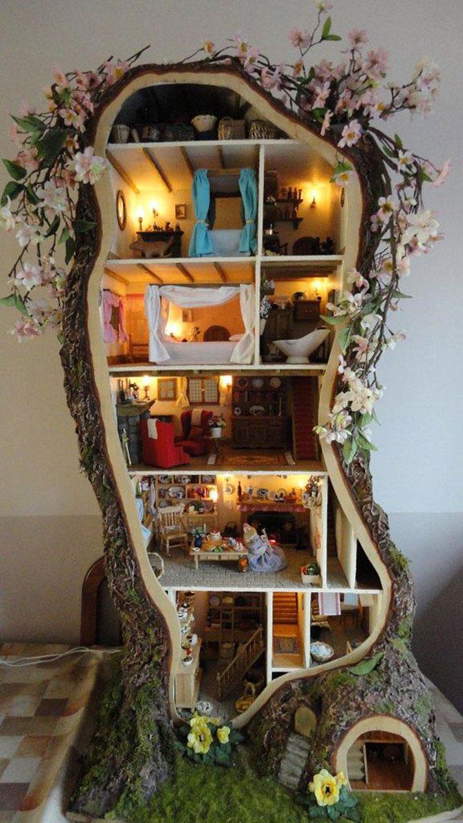 Casa-miniatura in copac, de Maddie Brindley - Poza 1