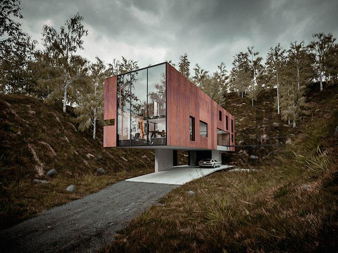 Casa minimalista si suspendata a unui fotograf in Tara Galilor - Poza 1