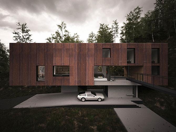 Casa minimalista si suspendata a unui fotograf in Tara Galilor - Poza 2