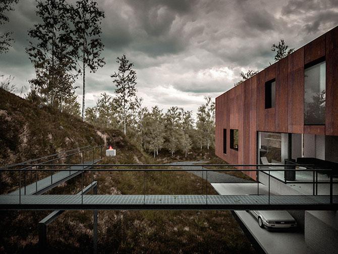 Casa minimalista si suspendata a unui fotograf in Tara Galilor - Poza 4