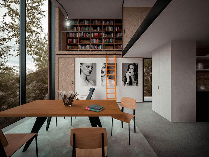 Casa minimalista si suspendata a unui fotograf in Tara Galilor - Poza 5