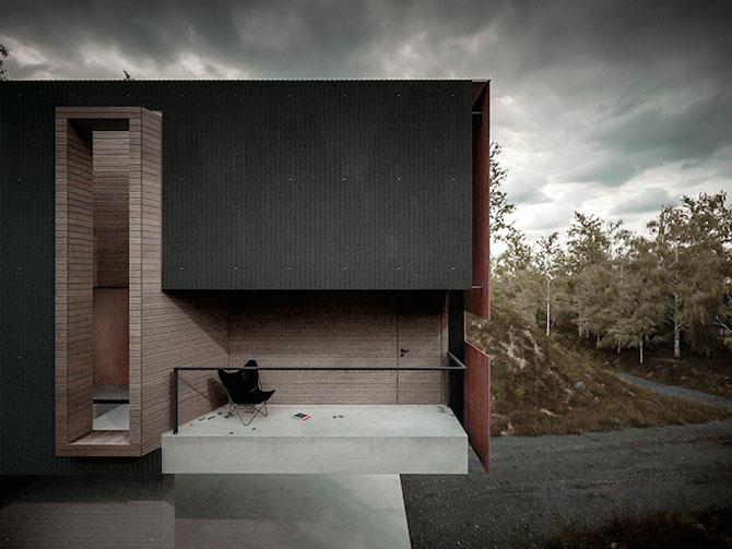 Casa minimalista si suspendata a unui fotograf in Tara Galilor - Poza 6