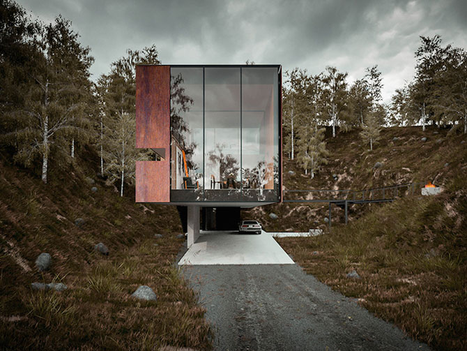 Casa minimalista si suspendata a unui fotograf in Tara Galilor - Poza 7