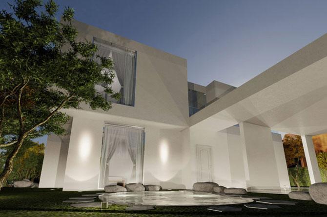 Casa ovala, cu copaci vii, pe malul oceanului - Poza 5
