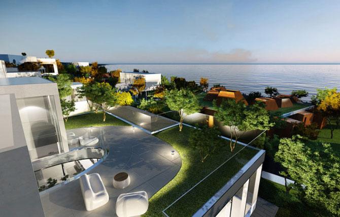 Casa ovala, cu copaci vii, pe malul oceanului - Poza 4