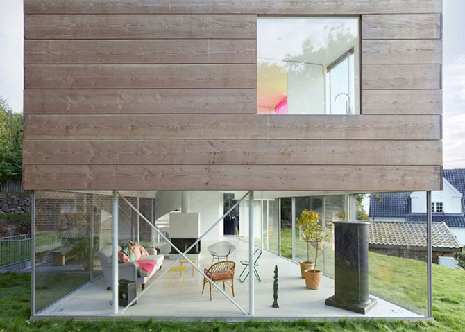 O casa pe jumatate transparenta, in Suedia - Poza 7