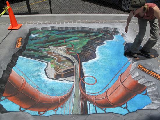 25 de desene 3D pe asfalt - Poza 3