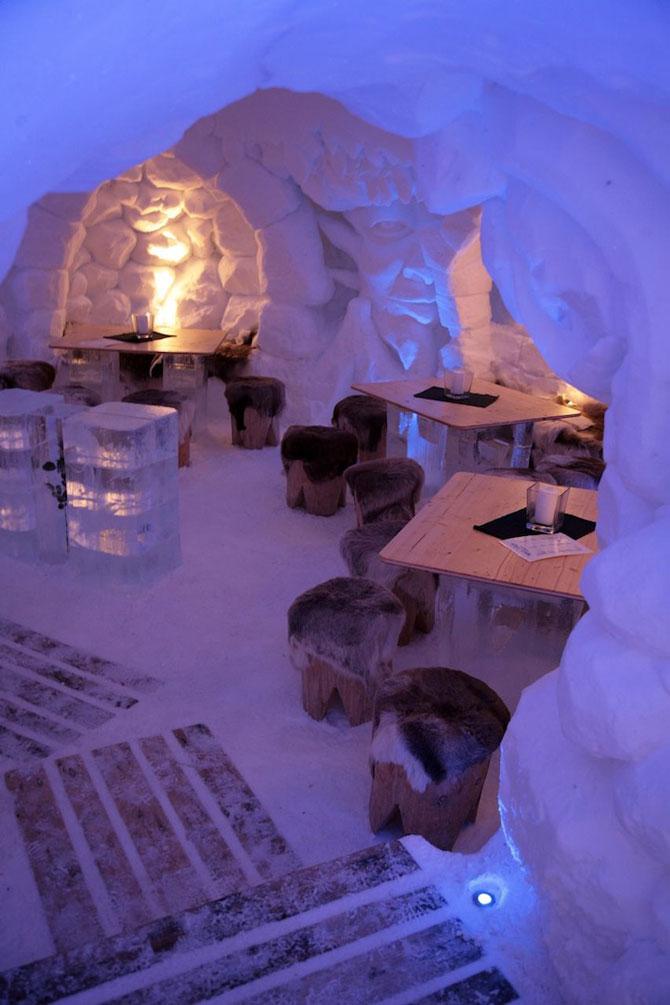 Hotelul de gheata cu chipuri sculptate in pereti - Poza 3