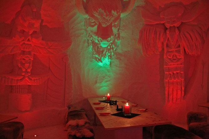 Hotelul de gheata cu chipuri sculptate in pereti - Poza 5