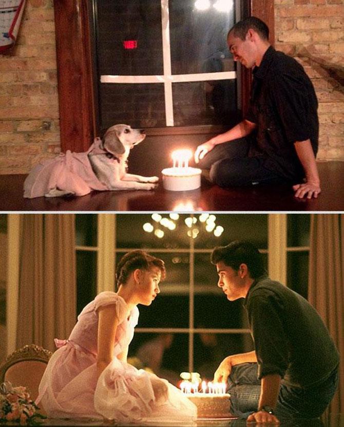 Un catel, star in filme celebre de dragoste - Poza 7