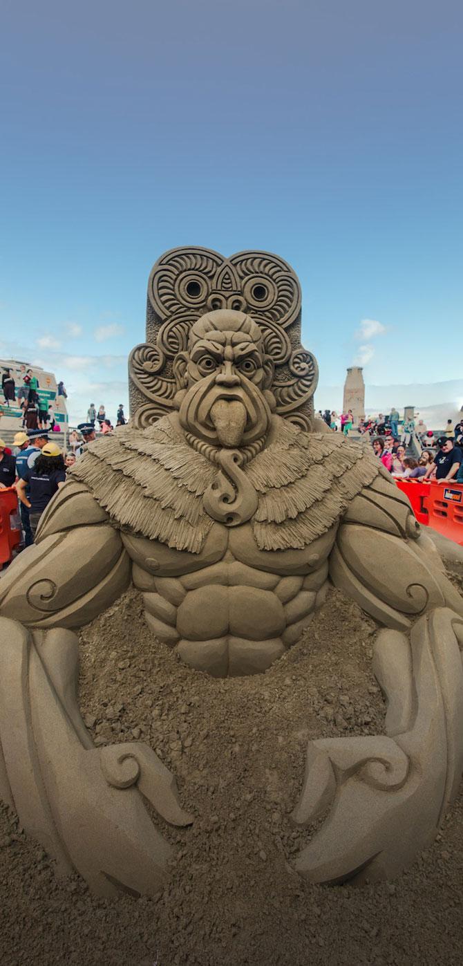 Concursul de sculpturi in nisip din Noua Zeelanda - Poza 1