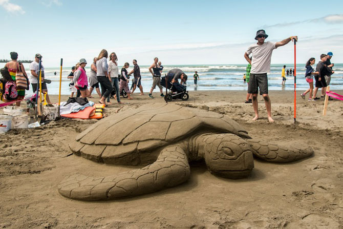 Concursul de sculpturi in nisip din Noua Zeelanda - Poza 4