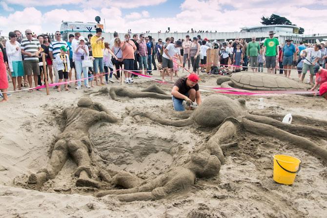 Concursul de sculpturi in nisip din Noua Zeelanda - Poza 7
