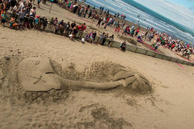 Concursul de sculpturi in nisip din Noua Zeelanda - Poza 8