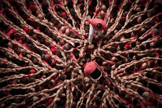 Turnul uman de la Tarragona, Spania, 2012 - Poza 2