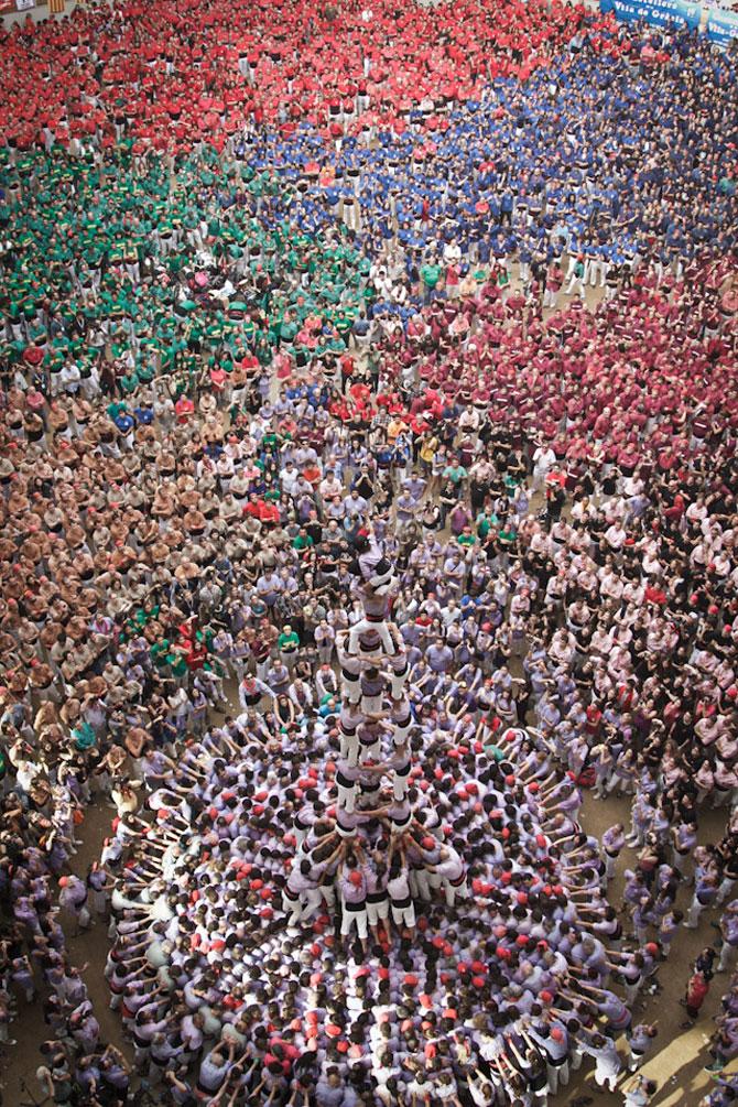 Turnul uman de la Tarragona, Spania, 2012 - Poza 8